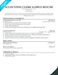 Objective For Clerical Resume Billing Clerk Resume Sample Law Clerk