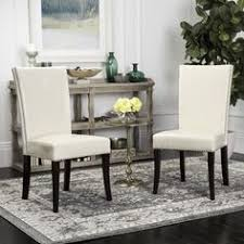 safavieh en vogue dining metro leather cream dining chairs set of