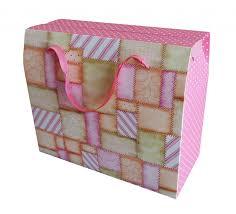 """Бумажный <b>подарочный пакет</b> """"Лоскутки"""", <b>складной</b>, 27 см х 23 см ..."""