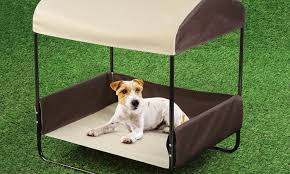portable pet bed with canopy groupon goods portable pet cot