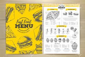 Design Fast Food Menu Vintage Fast Food Menu Design Sandwich Sketch Illustration