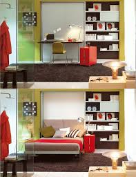 are your office and guest space in your apartment one and the same check out this creative murphy bed desk combo