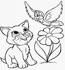 Small Picture Coloring Pages Kitten Coloring Pages Colour With Picture Of