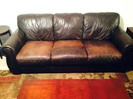 worn leather sofa chair distressed brown repair examples couch