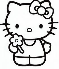 Small Picture Hello kitty coloring pages bring a flower ColoringStar