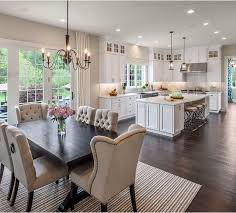 Wonderful Open Concept Kitchen Living Room Ideas With Brown Floor Open Concept Living Room Dining Room And Kitchen