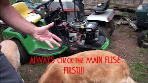 how to troubleshoot and diagnose a john deere riding lawnmower that won t start