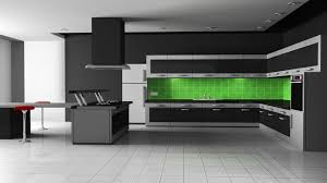Small Picture Green Color Modern Kitchen Cabinets Design Zooyer Cool Interior