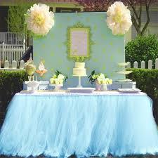 Light Blue Table Skirt Haperlare 3ft Light Blue Tulle Table Skirt Queen Wonderland Blue Tutu Tablecloth Skirting Tutu Table Skirt For Christmas Wedding Baby Shower Birthday