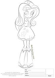 My Little Pony Coloring Pages Equestria Girls Fluttershy Doll