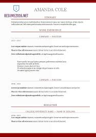 Gallery Of Resume Format 2017 20 Free Word Templates Most Recent