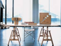 work tables for home office. Saw Horse Glasstop Tables | Trestle Work Table By Archille Castiglioni. Leonardo · HorsesOffice TableHome For Home Office E