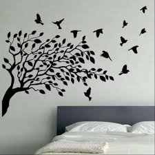 Bird Vinyl Wall Art Trees Branches Black Sample Flying Large Artwork  Applique Personalized Remarkable