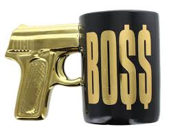 From united states customs services and international tracking provided. Boss Gun Metallic Gold Ceramic Coffee Mug Collectible Mugs Cups Decorative Collectibles