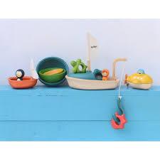 plan toys submarine wooden bath toy