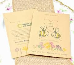 friends of the earth bee cause charity wedding favours Wedding Invitations Charity Uk friends of the earth bee cause seed packet wedding favours wedding invitations charity uk