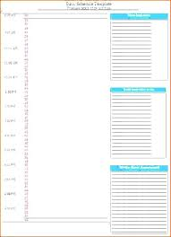 Every Day Work Schedule Template Hour Planner Planning Calendar ...