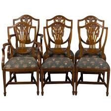 six shield back dining chairs in gany