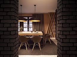 Home Designs: Brick Dining Room Design - Seductive Design