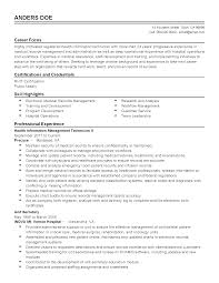 Management Resume Professional Health Information Technician Templates To Showcase 18
