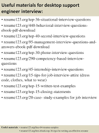 desktop support cv sample