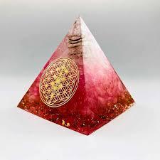 <b>Orgonite</b> Pyramid Muladhara Chakra Obsidian <b>Natural Crystal</b> ...