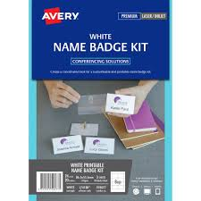 avery nametag avery 959077 l7418k name badge kit microperforated 86 5 x