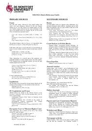 Oscola Quick Reference Guide Dmu Lcbs5042 Business Across