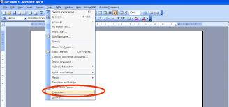 microsoft word menus