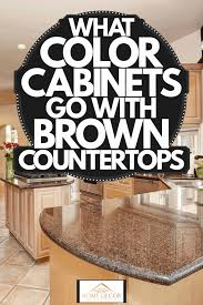 what color cabinets go with brown