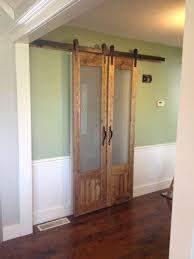 diy barndoor frosted glass sliding barn door as glass front doors