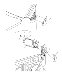 2008 dodge caliber mirror exterior diagram i2205380