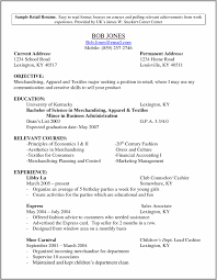 Resume Samples For Retail Store Jobs Resume Resume Examples