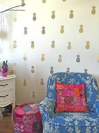pineapple wall decals gold wall art stickers lovely gold pineapple wall decals looks like pineapple wallpaper