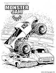 Small Picture Grave Digger Monster Jam Truck Coloring Pages Printable