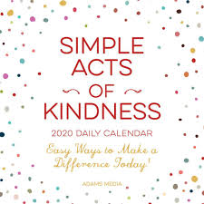 easy calendars simple acts of kindness 2020 desk calendar