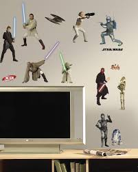 Peel And Stick Wall Decor Amazoncom Roommates Rmk1876scs Star Wars Episodes 1 Thru 3 Peel
