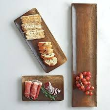 wooden serving platters long wood serving tray with 2 sliding platters its tray chic and handcrafted wooden serving platters