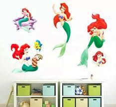 little mermaid wall decor little mermaid decal wall sticker girls baby nursery baby nursery wall mermaid little mermaid wall decor