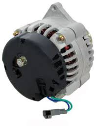 gm high output cs130d 1 wire high amp alternator side view front view cs 130d direct replacement for delco 10si 12si