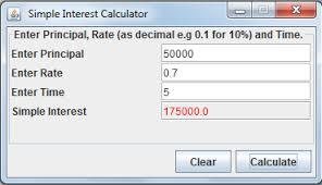 Java Gui Simple Interest Calculator Computer Science Programming