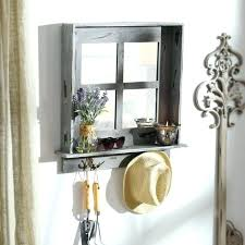 wall mirror with hooks entryway wall mirrors medium size of mirror with hooks entry table ideas