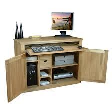 baumhaus mobel solid oak hidden discussion related to solid oak desk drop down hide away workstation baumhaus aston oak hidden