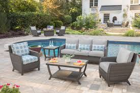outdoor furniture trends. With A Neutral Gray Finish, Agio\u0027s Aurora Deep Seating Collection Shows Off Several Key Trends For 2018. Porcelain Table Tops Mix Nicely The Resin Outdoor Furniture R