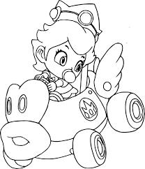 Coloriage Princesse Mario Kart L L L L L