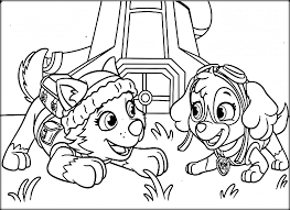 Paw Patrol Colouring Pages Free Printable Online Colouring Pages