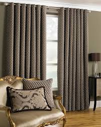 devere ready made lined eyelet curtains mocha