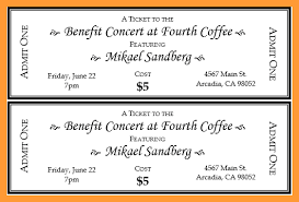 Benefit Ticket Template 12 13 Fundraising Ticket Template Free Aikenexplorer Com