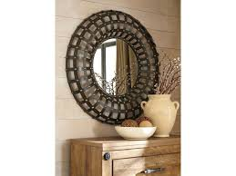 signature design by ashley accent mirrors ogier browngold finish