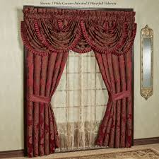 Maroon Curtains For Bedroom Elegant Curtains Touch Of Class